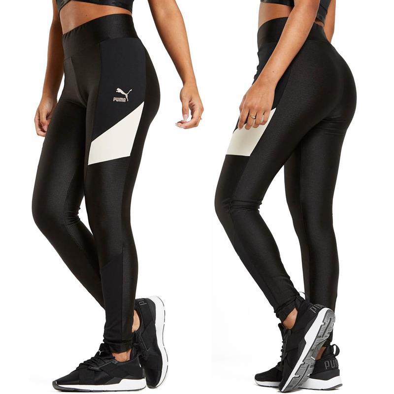 puma legging schwarz weiß