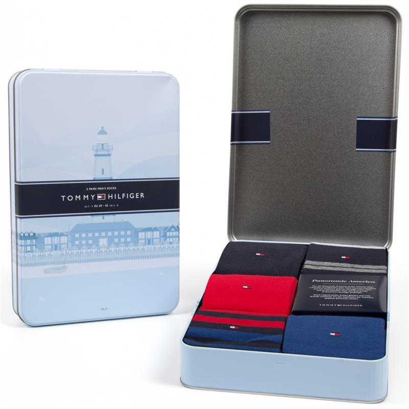 Tommy Hilfiger 5 Paar Limited Edition Herren Business Socken in Edler Geschenkbox